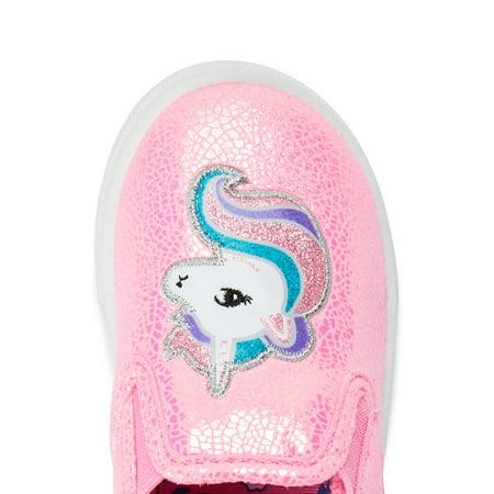 Wonder Nation Unicorn Casual Twin Gore Sneaker (Toddler Girls)