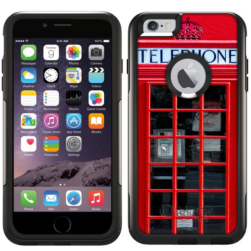 Otterbox Commuter Case for Apple iPhone 6 Plus - Red British Phone Booth