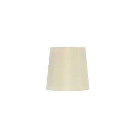 Five Inch Clip on Chandelier Lampshade with Nickel Bulb Clip (Eggshell) 6/3 Lite Chandelier Lamp