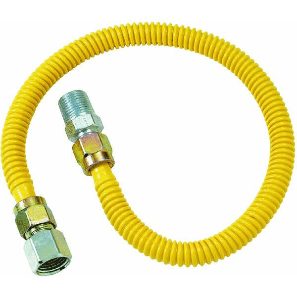 1/2 M.I.P. X 1/2 F.I.P. Stainless Steel Gas Connector