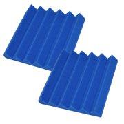 Seismic Audio 2 Pack Blue 2 Inch Studio Acoustic Foam Sheets Sound Absorbing Sound Dampening Tiles Blue - SA-FMDM2-Blue-2Pack