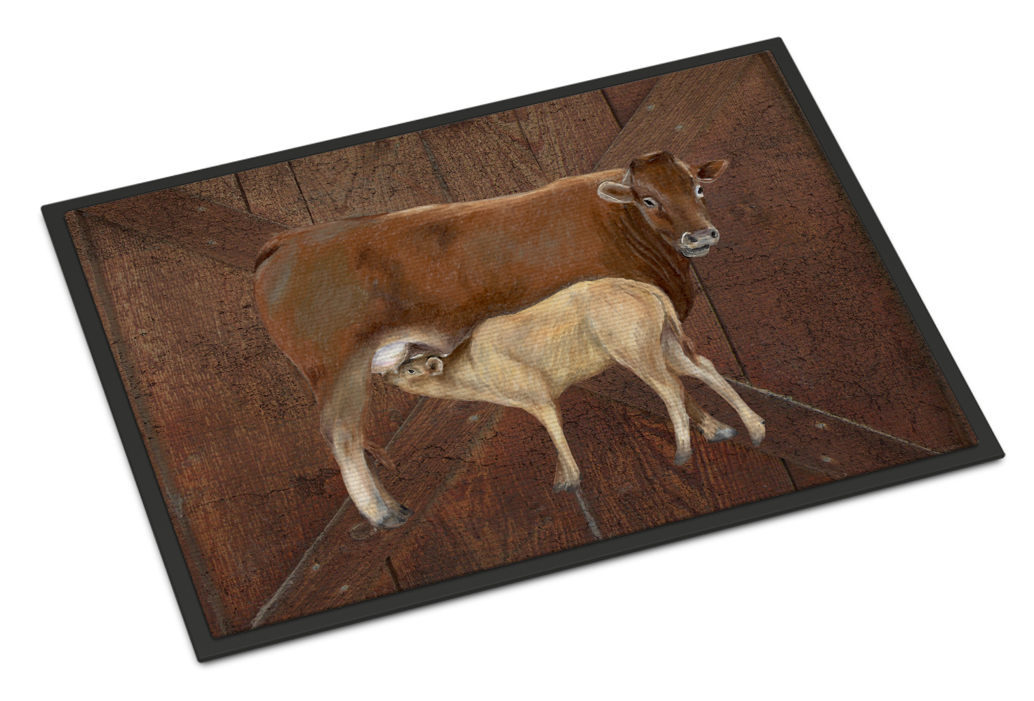 Cow Momma and Baby Doormat by Caroline's Treasures