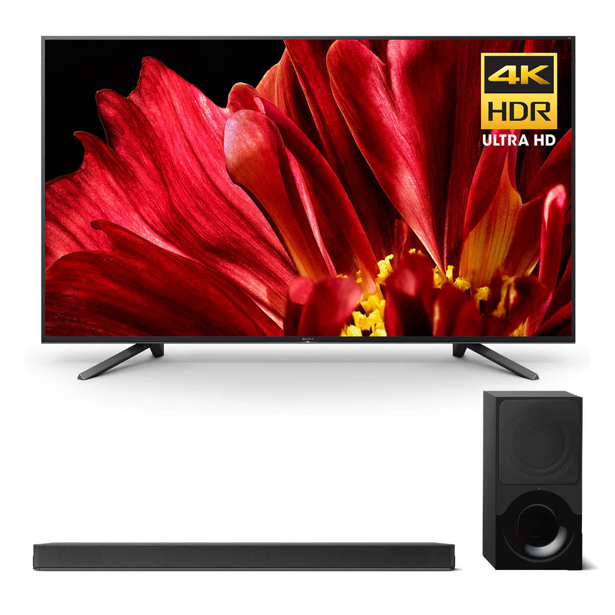 """Sony XBR-75Z9F 75"""" MASTER Series BRAVIA 4K HDR UHD TV and HT-X9000F 2.1-Channel Dolby Atmos Soundbar with Subwoofer"""