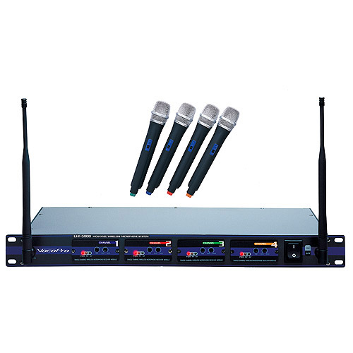 VOCOPRO UHF-5800 Professional 4-Channel UHF Wireless Microphone System