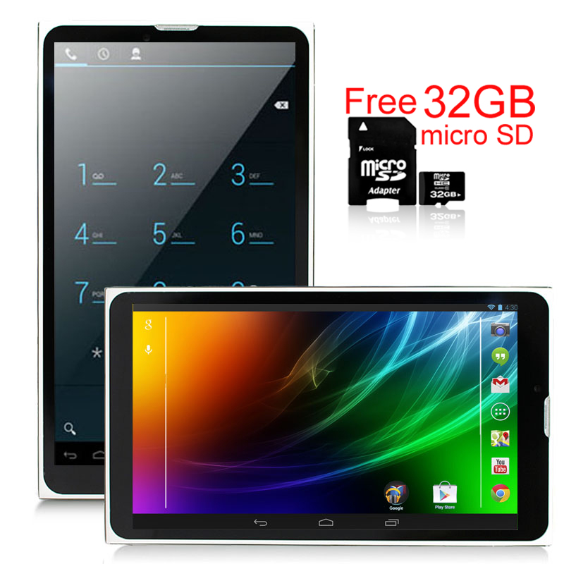 "Indigi® 7.0"" Unlocked 3G Smart Cell Phone 2-in-1 Phablet Android 4.4 Tablet PC AT&T / T-Mobile (Black) w/ 32gb microSD"