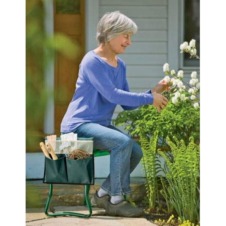 Gardener's Supply Company Wide-Seat Kneeler Tool Pouch, Outfit your Wide Seat Garden Kneeler with this handy pouch By Gardeners Supply Company