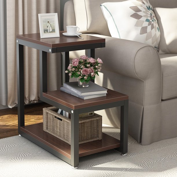 Tribesigns Modern End Tables 3 Tier, Living Room Side Tables
