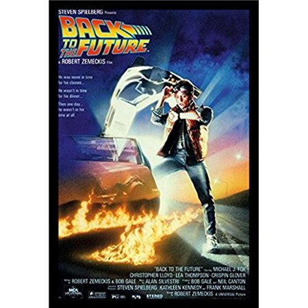 FRAMED Back to the Future 36x24 Movie Art Print Poster ...