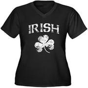 Women's Plus-Size Irish Shamrock T-Shirt