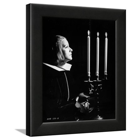 Greta Garbo Side View Posed wearing Nun Outfit Framed Print Wall Art By Movie Star News (Different Nun Outfits)