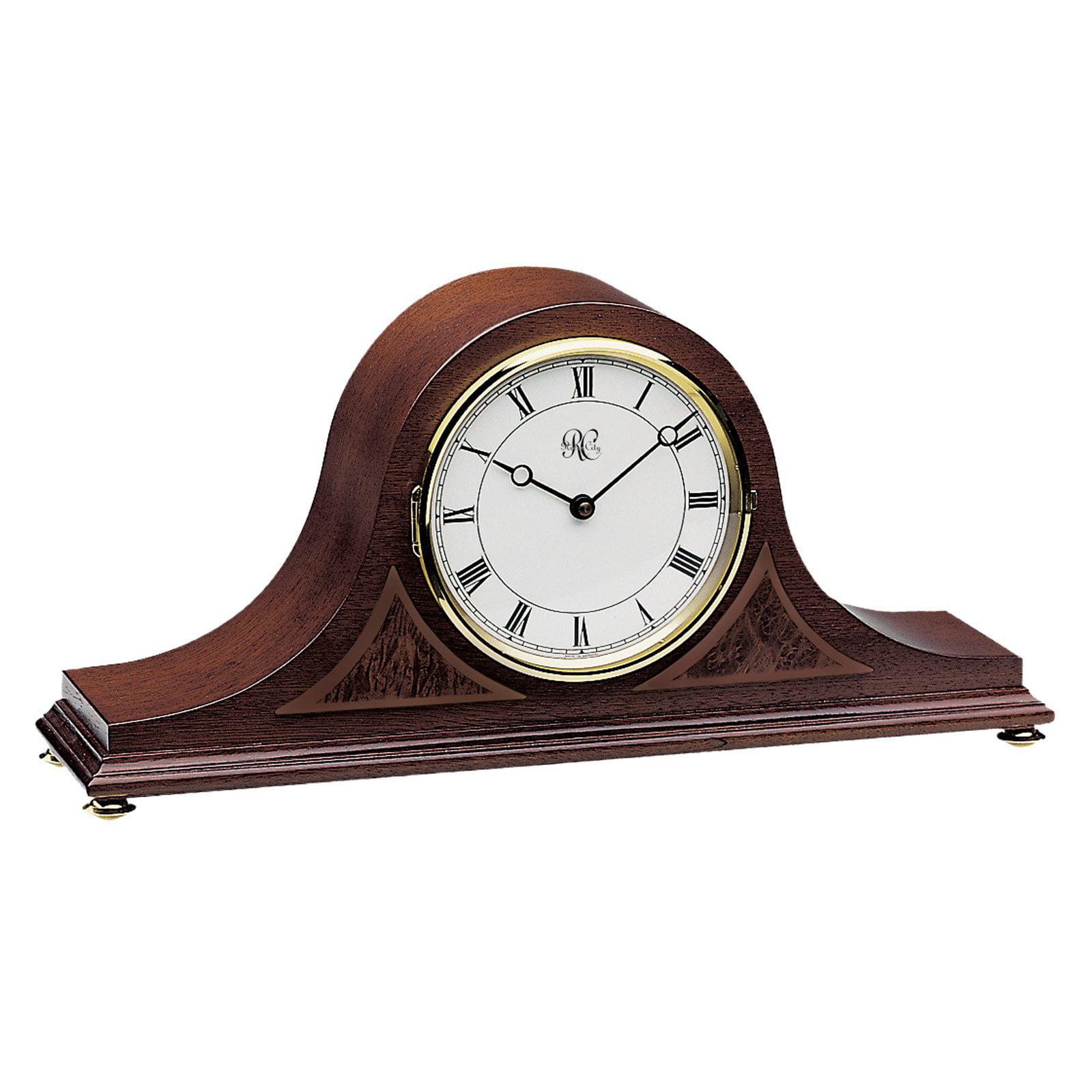 River City Clocks Walnut Tambour Mantel Clock by River City Clocks
