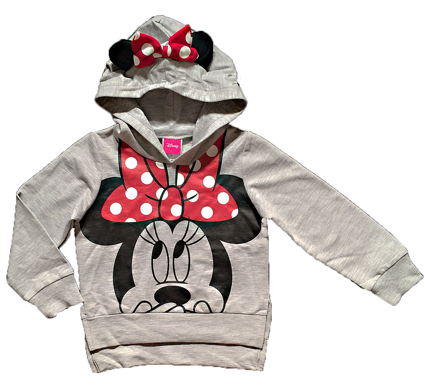 Disney Minnie Mouse Little Girls Lightweight Hoodie Shirt