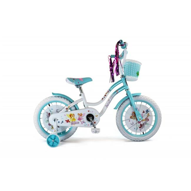 Micargi ELLIE-G-16-WHI-BBL 16 in. Girls Bicycle, White & Baby Blue 18 x 7 x 36 in. by Micargi