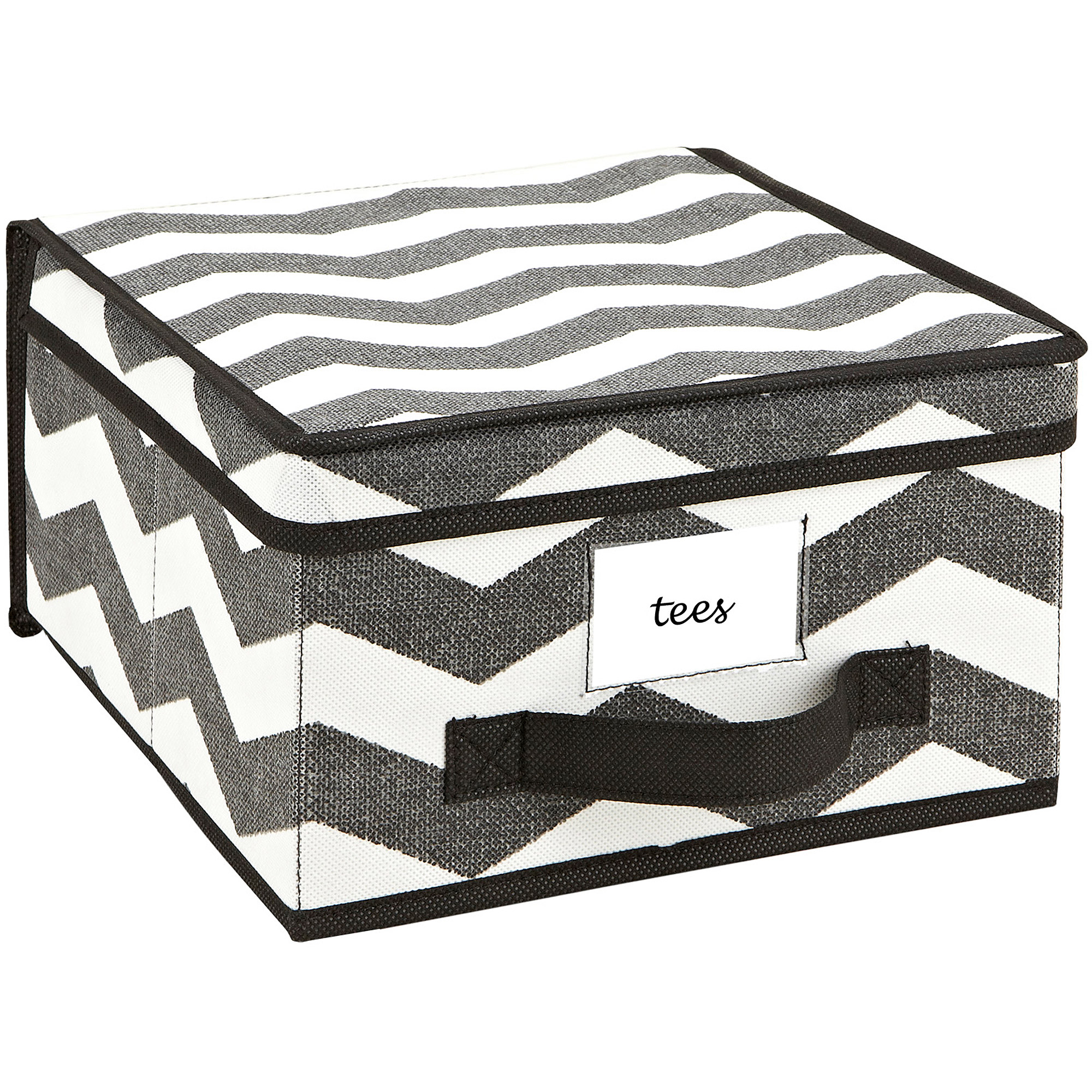 Closet Candie Storage Box, Chevron Faux Jute