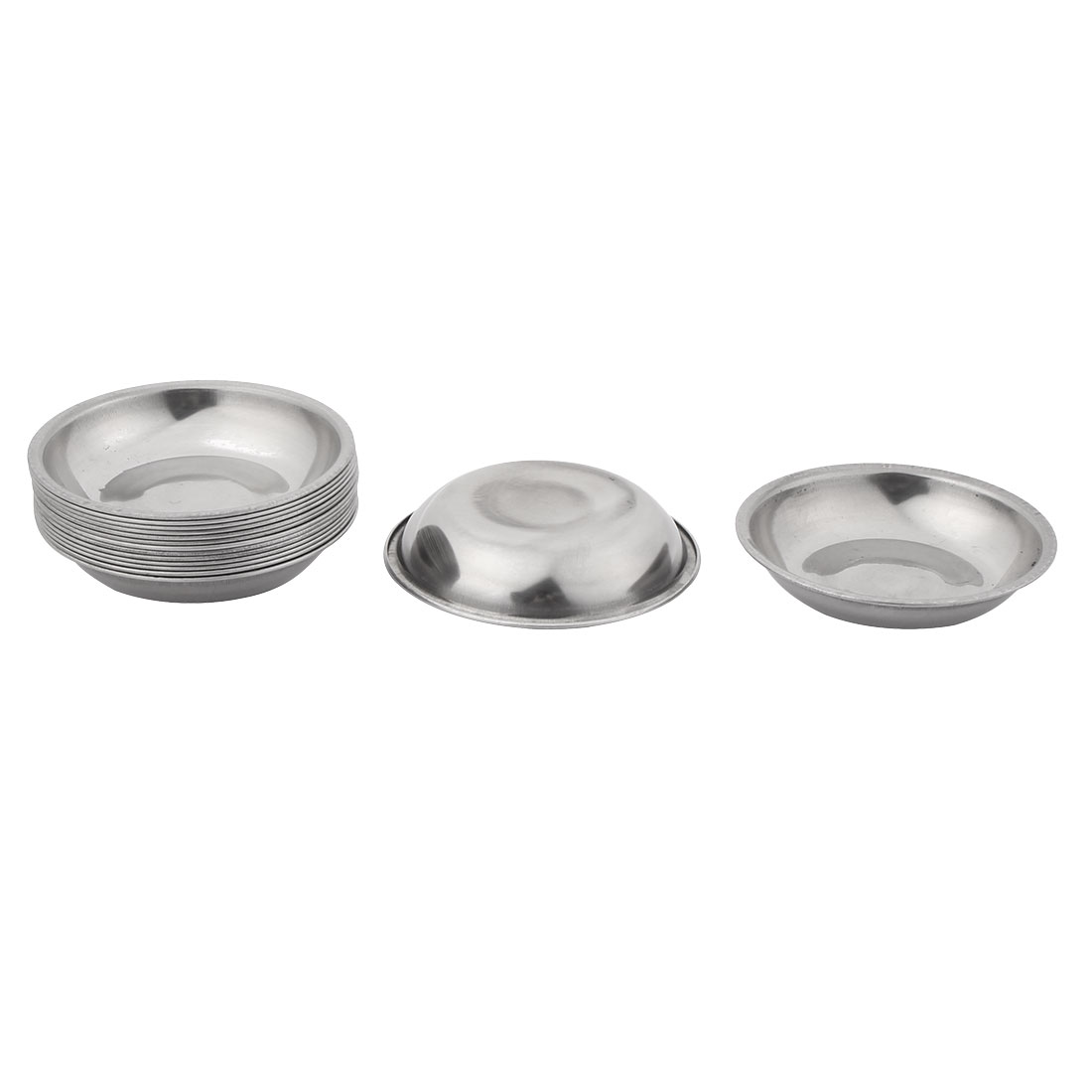 10 pieces stainless steel soy sauce dish plate