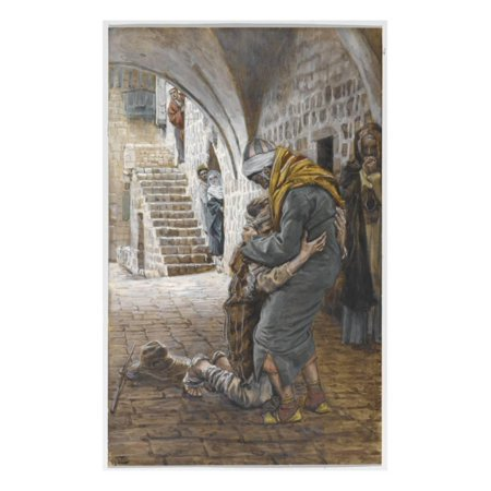 The Return of the Prodigal Son, Illustration for 'The Life of Christ', C.1886-96 Print Wall Art By James Tissot](Prodigal Son Craft)