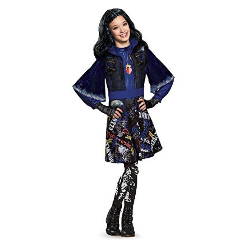 Disguise 88116L Evie Isle Of The Lost Deluxe Costume, Small 4-6x