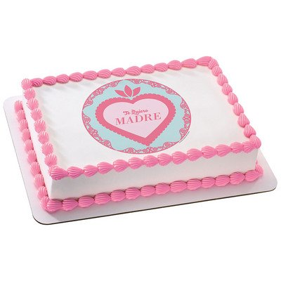 Te Quiero Madre (I Love you Mom) Edible Icing Image for 1/4 sheet cake