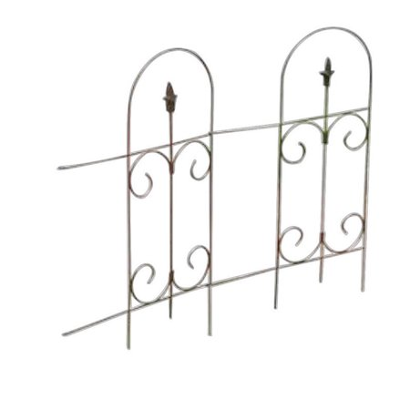 Panacea Products Corp-Import 89373 Black Garden Fence With Finial, 32-In. x 8-Ft.