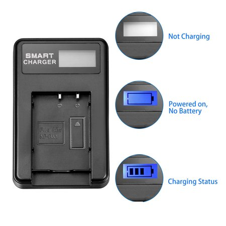 Battery Charger LCD 1-Slot with USB Cable for NP-BX1 Battery - image 2 de 5