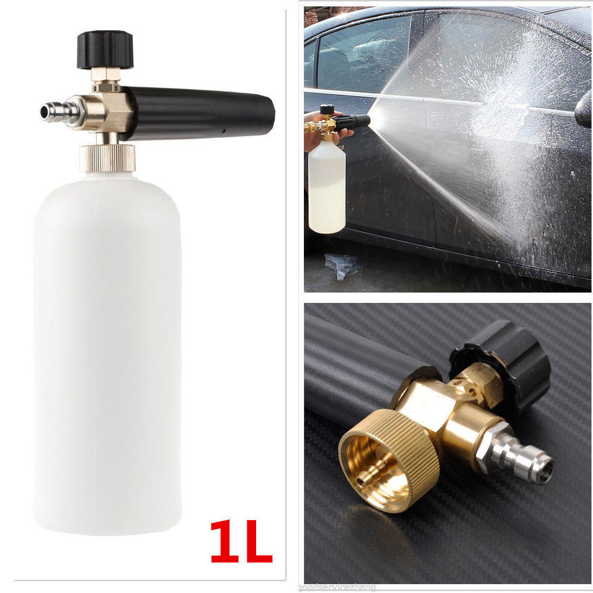 1L Adjustable Snow Foam Lance Washer Car Wash Gun Soap Pressure Washer Bottle