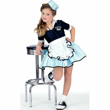 Car Hop Girl Child Halloween Costume (Navy Nurse Halloween Costume)