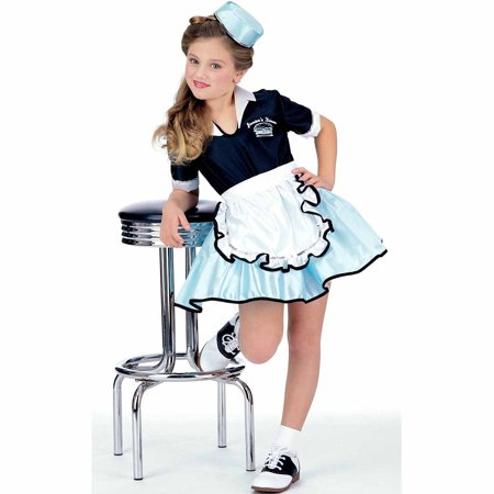 Car Hop Girl Child Halloween Costume - Girl Transformer Halloween Costume