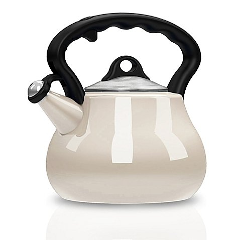 Tea Kettle 2-Quart Features A Cool-touch Handle in Pearl, Remedy® Lovely Lady