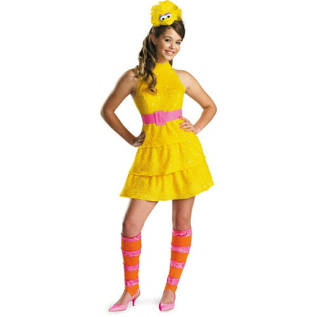 Big Bird Teen Halloween Costume - Teen Girl Nerd Costume