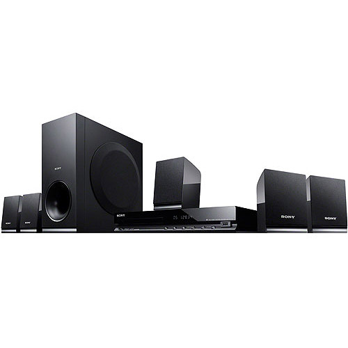 sound system at walmart. sony dav-tz140 5.1 ch home theater surround sound system with dvd player at walmart r