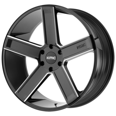 KMC KM702 Duece 20x8.5 6x135 +35mm Black/Milled Wheel Rim 20