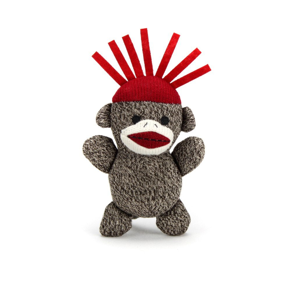 Spike From The, Baby sock monkey measuring 7 inches tall. By Sock Monkey Family