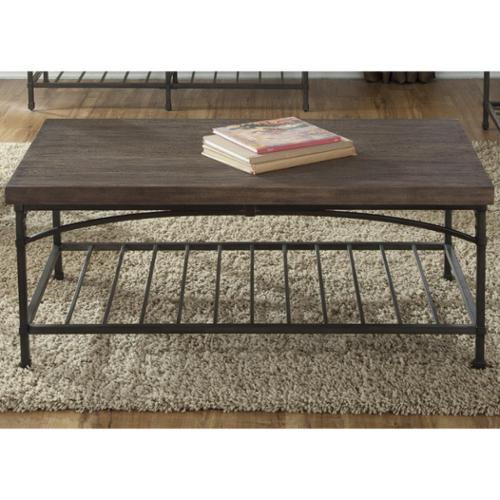 Liberty Franklin Transitional Rustic Brown Cocktail Table by Overstock