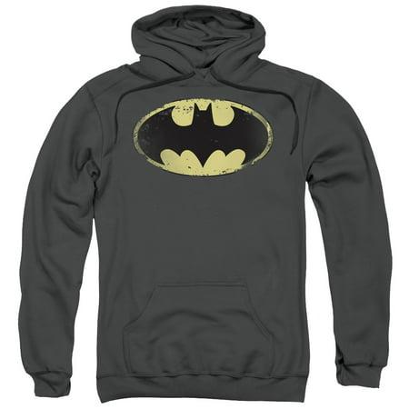 Batman Distressed Shield Mens Pullover - Batman Hoodie With Mask