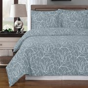 Luxury Soft 100% Cotton 3 Piece Duvet Cover Set Printed - Full/Queen - Ema Gray