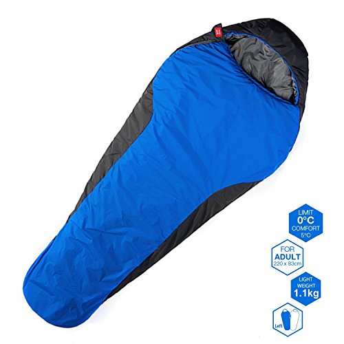 WEANAS 3 Season Outdoor Travel Mummy Sleeping Bag, +32 Degree F, Waterproof Lightweight Breathable Comfortable, for... by Weanas