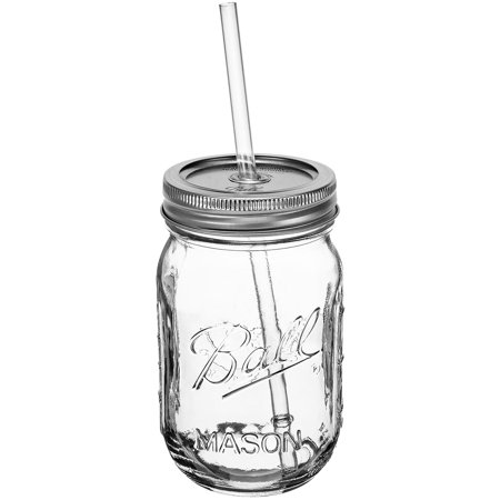 Redneck Sipper Drinking Jar 16oz Authentic Ball Mason Jar Reusable Acrylic Straw (Straw Jar)
