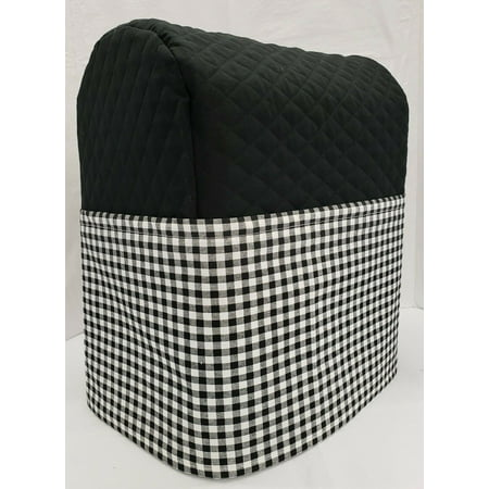 Black & White Checked Cover Compatible with Sunbeam Heritage Series 4.6qt Mixmaster (Black)