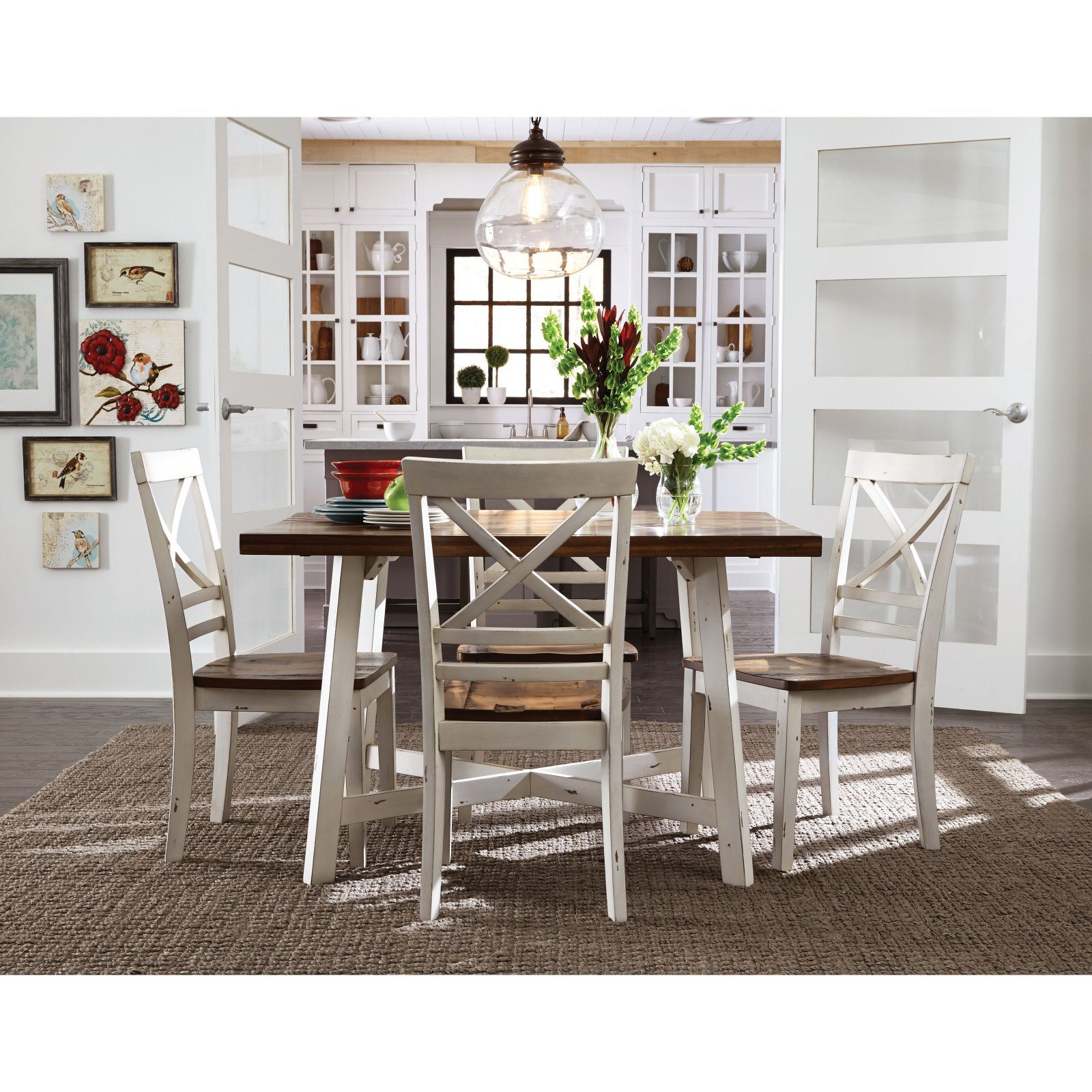 Standard Furniture Amelia 5 Piece Dining Table Set Walmart Com Walmart Com