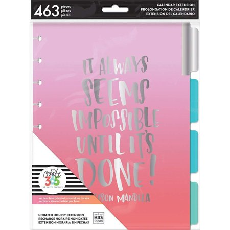 me & My Big Ideas MONT-10 The Happy Planner Extension Pack, Multi, Includes 6 pre-punched dividers; 6 months of pre-punched, non-dated hourly calendars;.., By Me My Big Ideas