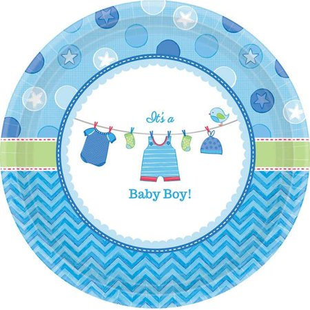 Baby Shower Boy Shower with Love Dessert Plates, Pack of 8](Easy Baby Shower Desserts)