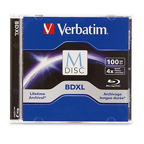 Verbatim M DISC BDXL 100GB 4X with Branded Surface - 1pk Jewel Case