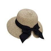Floppy Hat Women's UPF 50+ Foldable/Packable Straw Sun Beach Hat,Mix