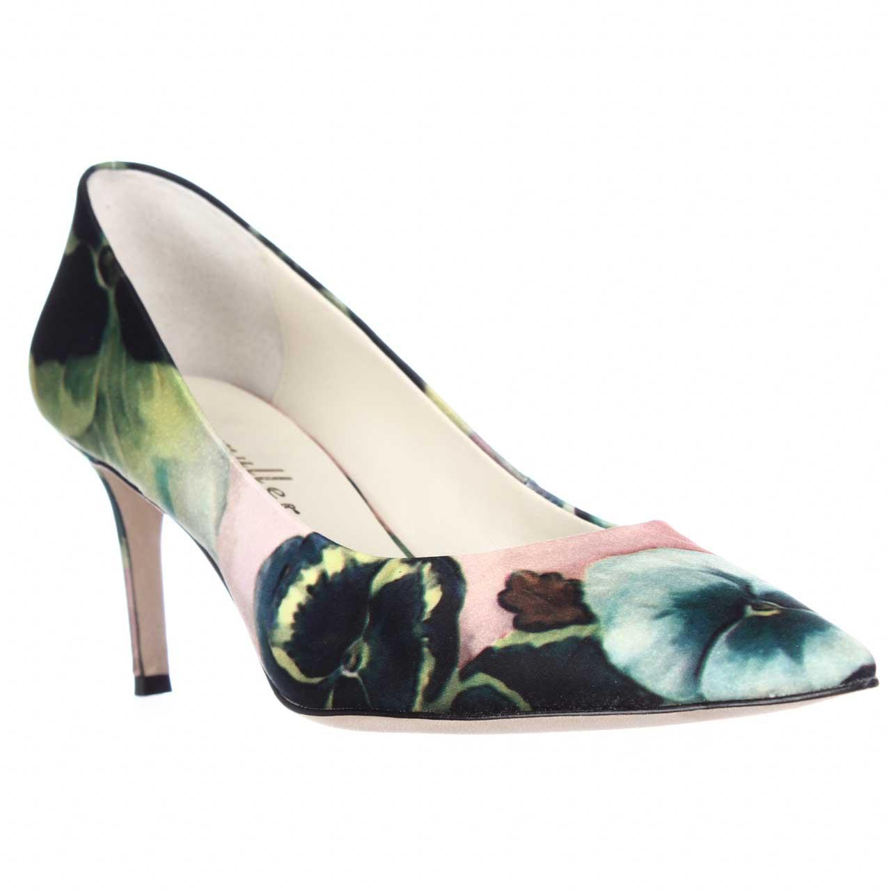 Womens Bettye Muller Annie Pointed Toe Pumps - Pink Pansy