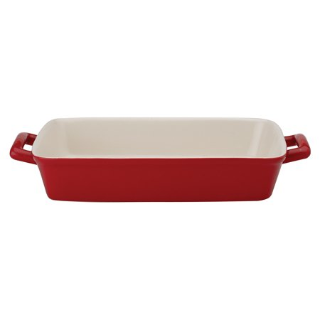 Mrs. Anderson's Baking Rose Ceramic 9 x 13 Inch Lasagna Pan
