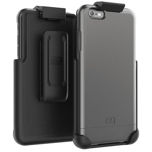 iPhone 6 6S Belt Clip Case, Encased (SlimShield Series) Hybrid Cover w/ Secure-fit Holster (2pc set)