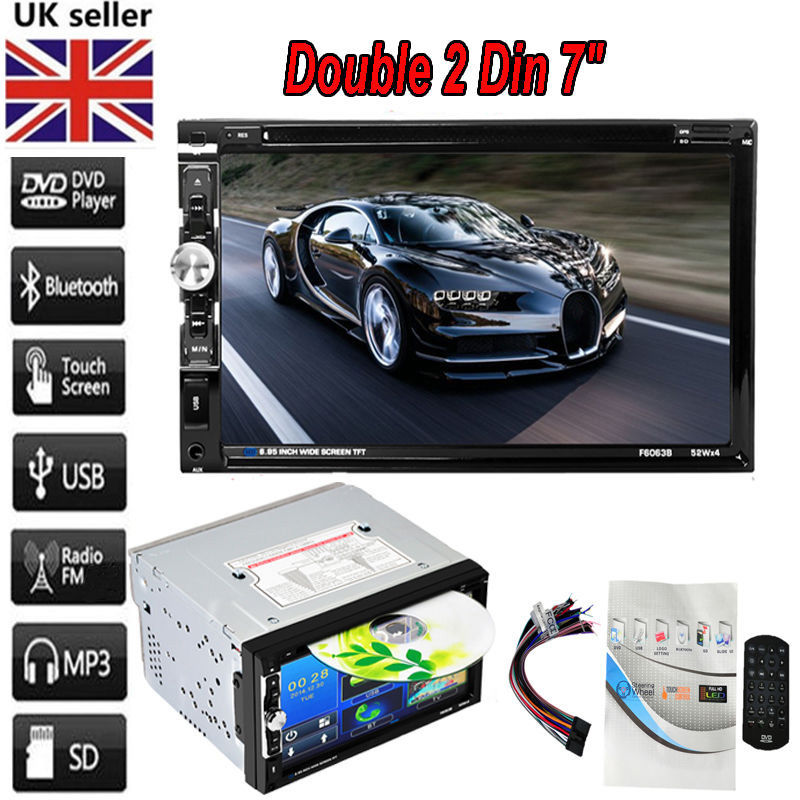 """HD 2 Din 7"""" In Dash Car Bluetooth Stereo DVD CD Player Touch Screen FM AM Radio by Universal E-Business LLC"""