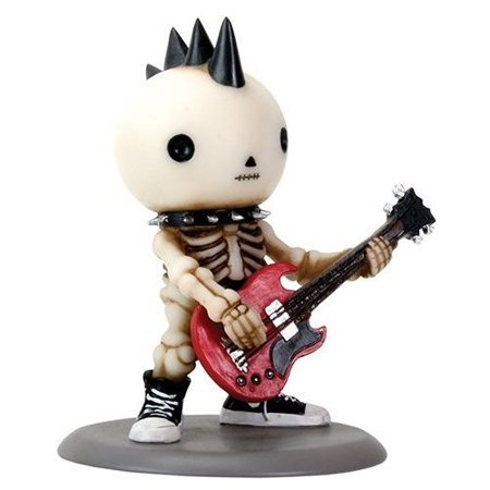 Lucky The Skeleton Rocking The Bass Guitar - Rockband Edition Figurine - Guitar Skeleton