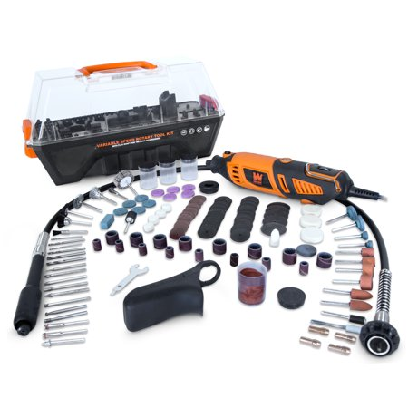 WEN 1.3-Amp Variable Speed Steady-Grip Rotary Tool with 190-Piece Accessory Kit, Flex Shaft and Carrying Case,