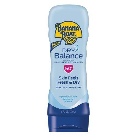 Banana Boat Dry Balance Sunscreen Lotion SPF 50+, 6 Oz, Packaging May Vary